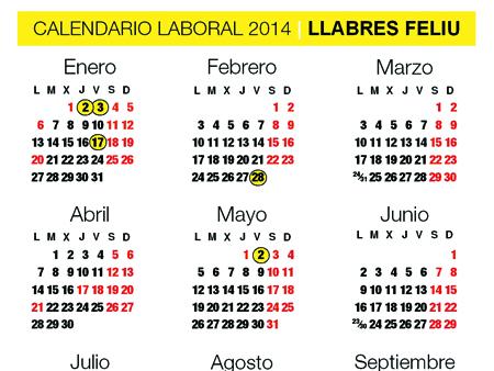 calendario construccion 2014